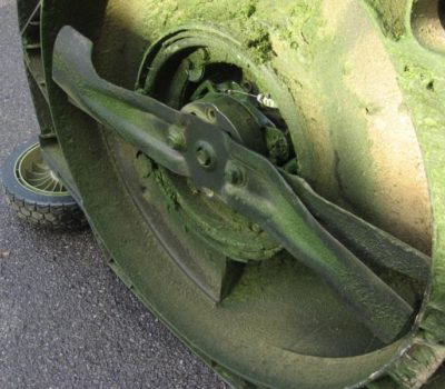Inspect lawn mower blades