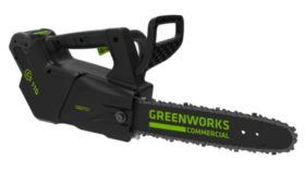 Greenworks GS 110 battery powered chainsaw