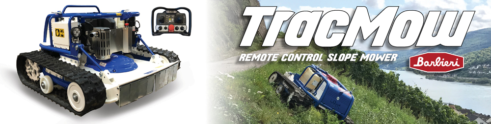 Trac Mower Remote Control Slope Mower