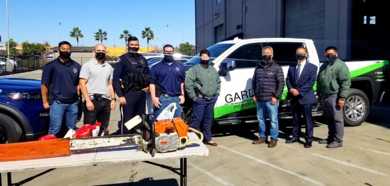 Gardenland-power-equipment-reunites-stolen-equipment-sanjosepolice